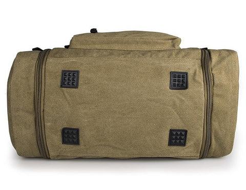Large Weekender Canvas Duffle Bag - Army Green-Universal Store London™