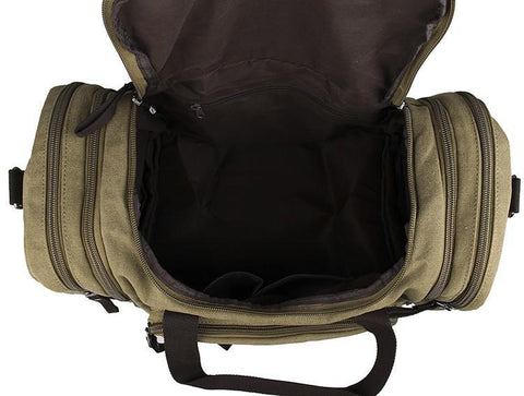 Image of Large Weekender Canvas Duffle Bag - Army Green-Universal Store London™