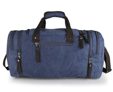 Large Weekender Canvas Duffle Bag - Blue-Universal Store London™