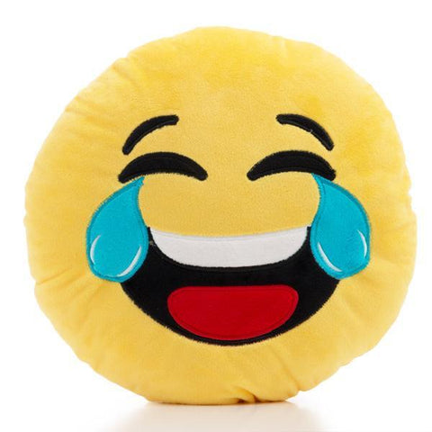 Laughing Emoji Cushion-Universal Store London™
