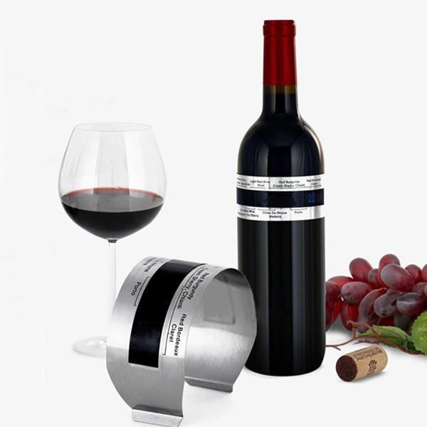 LCD Stainless Steel Wine Bracelet Thermometer Creative Wine Thermometer-Universal Store London™
