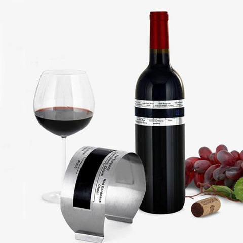 Image of LCD Stainless Steel Wine Bracelet Thermometer Creative Wine Thermometer-Universal Store London™