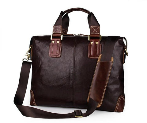 Image of Leather Business Briefcase Laptop Bag-Universal Store London™
