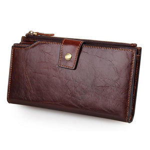 Leather Travel Unisex Long Wallet-Universal Store London™