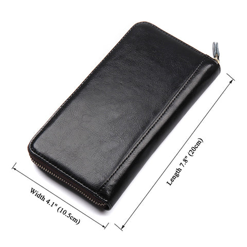 Image of Camden RFID Zip Around Leather Wallet for Women - Black-Universal Store London™