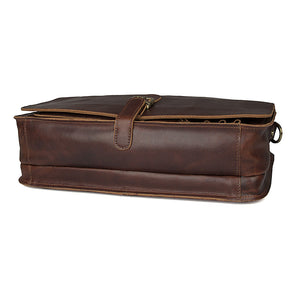 'Englaland' Handmade Leather Briefcase - Dark Brown-Universal Store London™