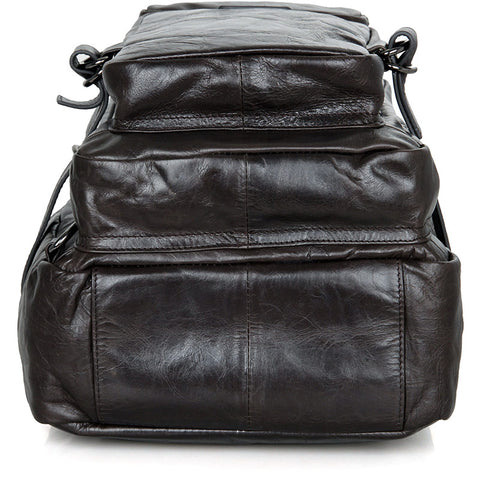 Image of 'Viator' Soft Leather Multi Pocket Backpack-Universal Store London™