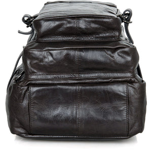 'Viator' Soft Leather Multi Pocket Backpack-Universal Store London™