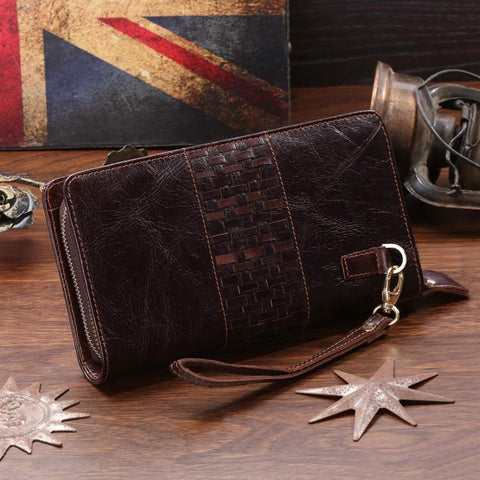 Image of 'Liverpool' Classic Genuine Leather Clutch-Universal Store London™