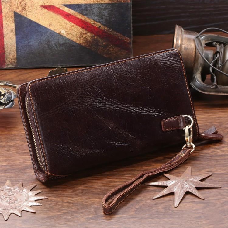 'Liverpool' Classic Genuine Leather Clutch-Universal Store London™