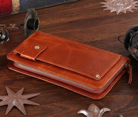 Image of 'London' Classic Vintage Genuine Leather Clutch-Universal Store London™