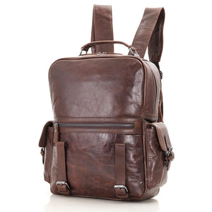 'Mount' Leather Backpack - Brown-Universal Store London™