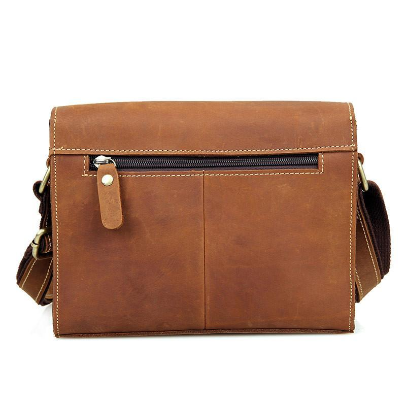 'Mary' Handmade Small Leather Messenger Bag-Universal Store London™