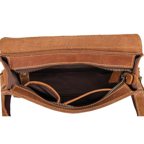Image of 'Mary' Handmade Small Leather Messenger Bag-Universal Store London™