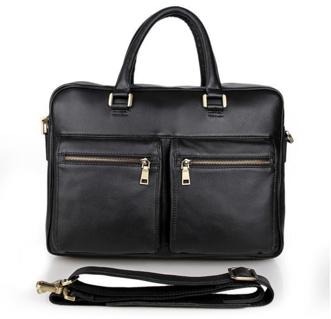 Image of 'Mayfair' Leather Business Bag-Universal Store London™