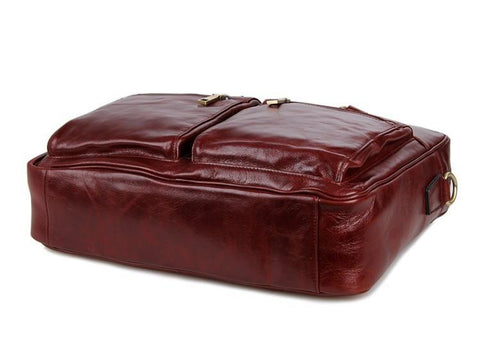 Image of 'Mayfair' Leather Business Bag - Russet-Universal Store London™