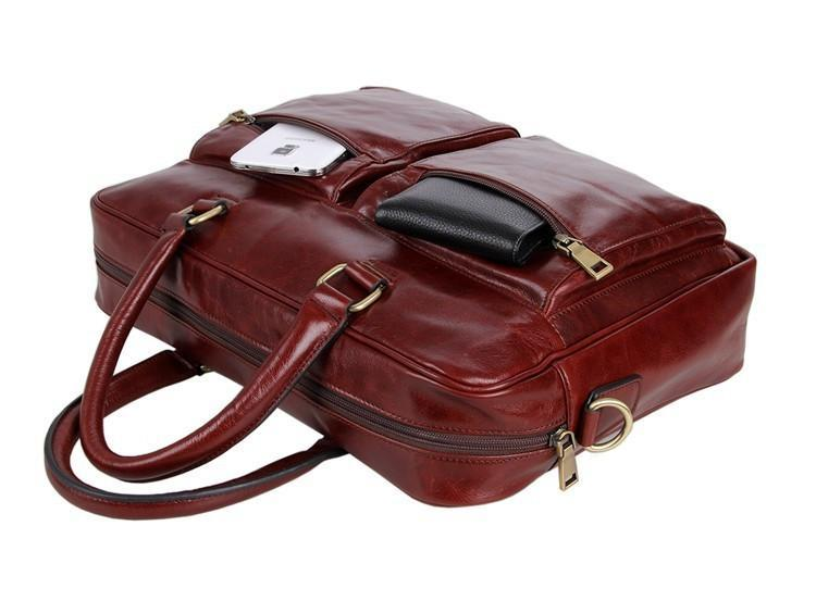 'Mayfair' Leather Business Bag - Russet-Universal Store London™