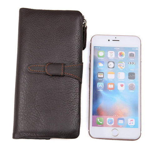 Image of Mens Vintage Coffee Supple Leather Continental Wallet-Universal Store London™