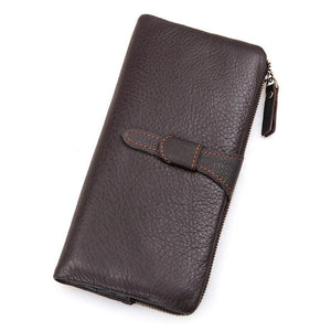Mens Vintage Coffee Supple Leather Continental Wallet-Universal Store London™