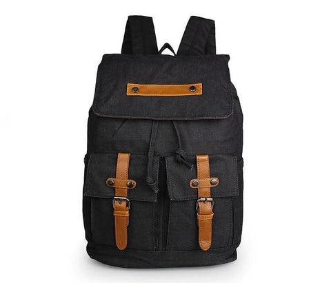 Image of Metropolitan Canvas Backpack - Black-Universal Store London™