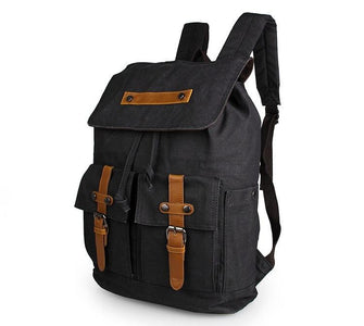Metropolitan Canvas Backpack - Black-Universal Store London™