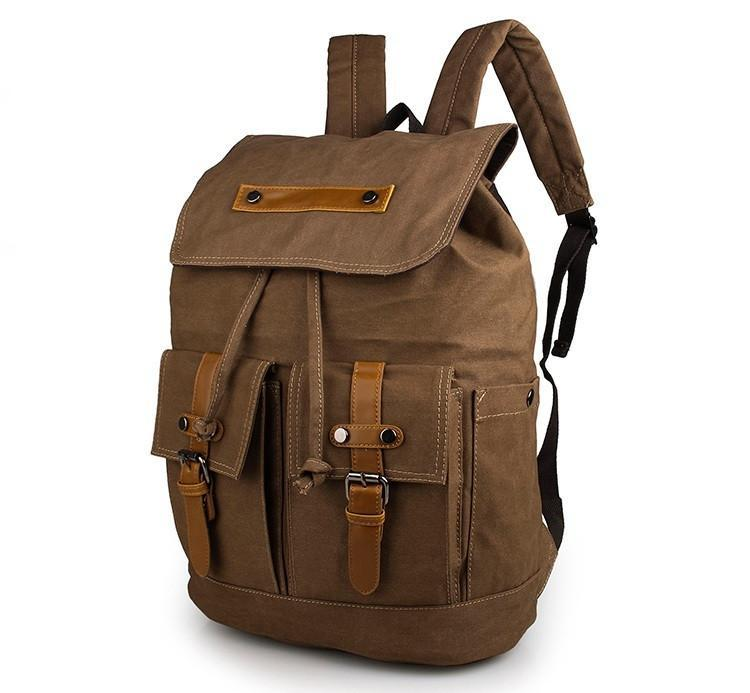 Metropolitan Canvas Backpack - Brown-Universal Store London™