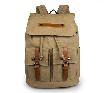 Metropolitan Canvas Backpack - Light Army Green-Universal Store London™