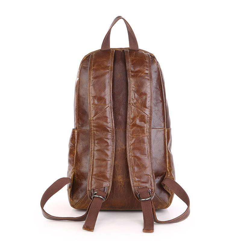 'Metropolitan' Leather Backpack - Brown-Universal Store London™