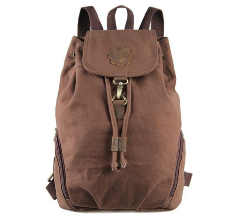 Image of 'Miami' Classic Canvas and Leather Backpack-Universal Store London™