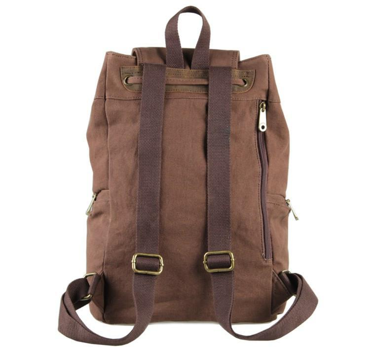 'Miami' Classic Canvas and Leather Backpack-Universal Store London™
