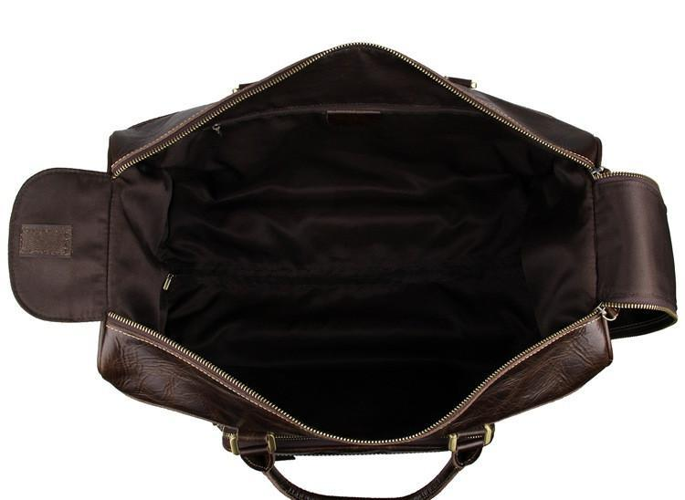 'Midas' Leather Travel Bag with Wheels-Universal Store London™
