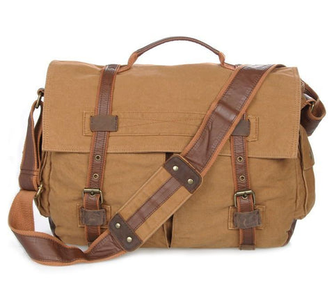 Image of Military Style Messenger Bag - Brown-Universal Store London™