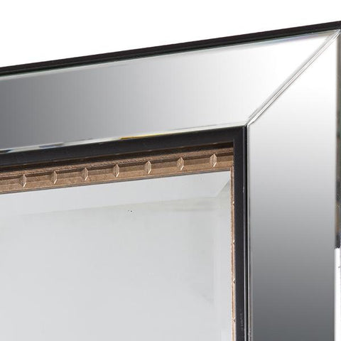 Image of Mirror Synthetic resin Bevelled glass Black Gold (80 x 4 x 110 cm) by Homania-Universal Store London™