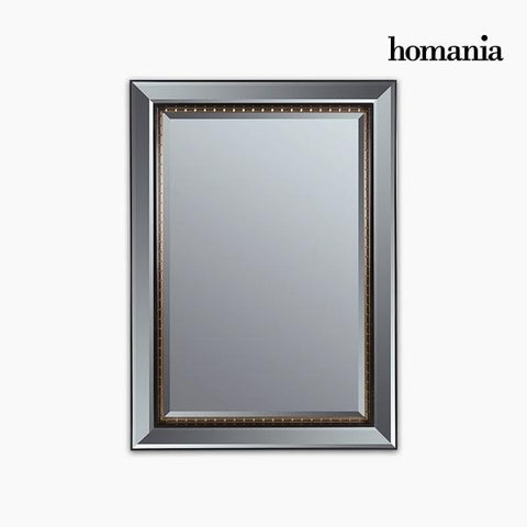 Mirror Synthetic resin Bevelled glass Black Gold (80 x 4 x 110 cm) by Homania-Universal Store London™