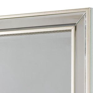 Mirror Synthetic resin Bevelled glass Silver (70 x 4 x 100 cm) by Homania