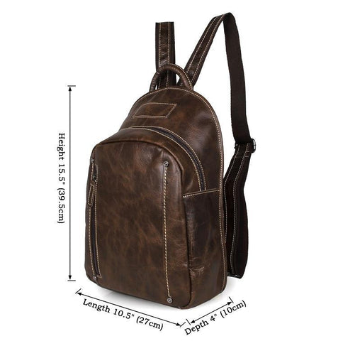 Image of Modern Vintage Leather Backpack-Universal Store London™