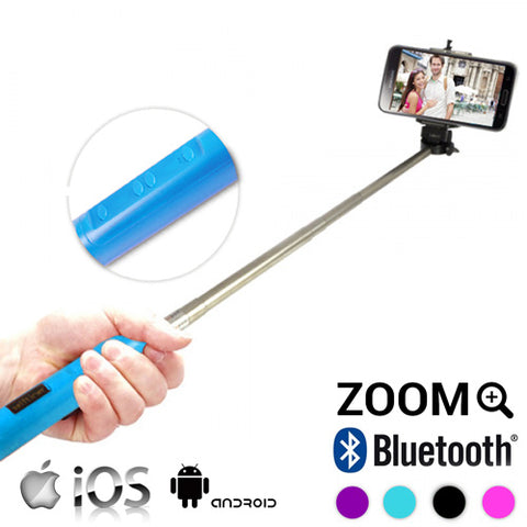 Image of Bluetooth Selfie Stick with Zoom-Universal Store London™