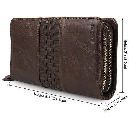 Image of 'Moscow' Classic Genuine Leather Clutch-Universal Store London™