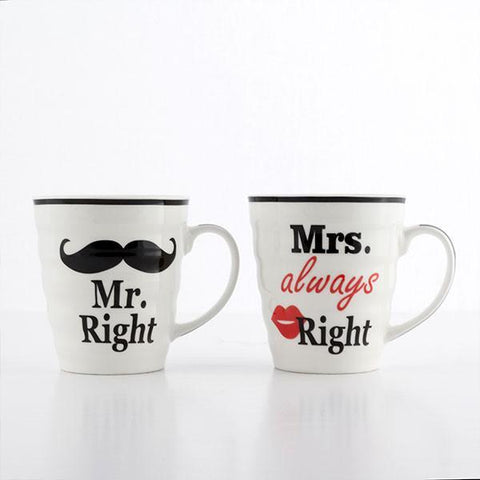 Mr. Right & Mrs. Always Right Mugs-Universal Store London™