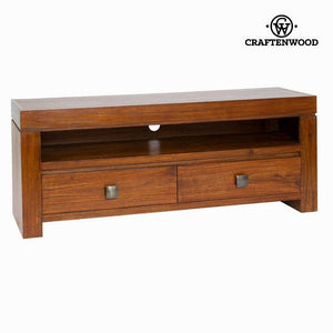 Nature tv stand 2 walnut drawers - Nogal Collection by Craftenwood-Universal Store London™