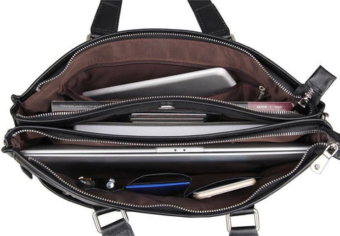 Image of New England Leather Laptop Briefcase-Universal Store London™