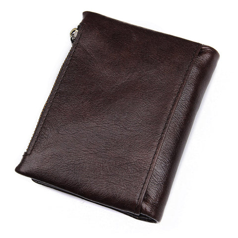 Brown Leather Wallet with Coin SD Memory SIM Card Storage-Universal Store London™
