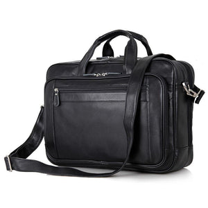 "Newbury Double-Zip Leather Business Briefcase 16""-Universal Store London™"