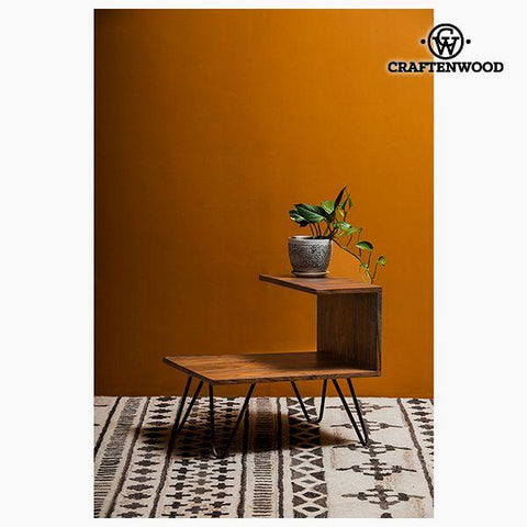 Nightstand Mango wood (40 x 40 x 45 cm) by Craftenwood-Universal Store London™