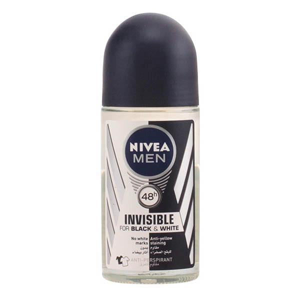 Nivea - INVISIBLE FOR BLACK & WHITE MEN deo roll-on 50 ml-Universal Store London™