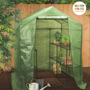 Oh My Home Big House Greenhouse with Shelves-Universal Store London™