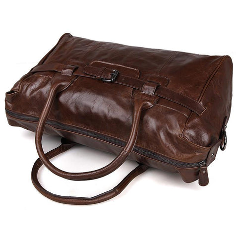 Image of 'Old Angler' Leather Travel Bag-Universal Store London™