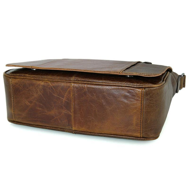 Old London Leather Crossbody Messenger Bag-Universal Store London™