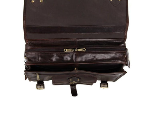 Image of Old School Full Grain Leather Satchel Bag-Universal Store London™