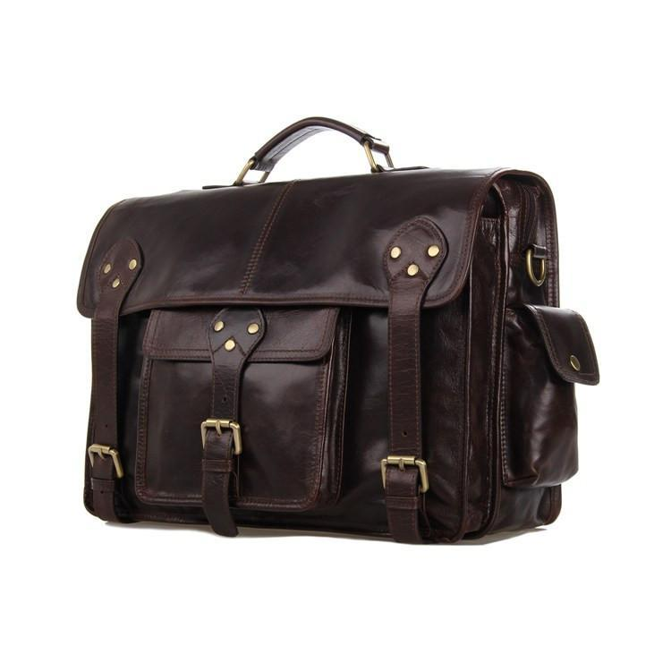 Old School Full Grain Leather Satchel Bag-Universal Store London™